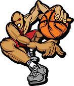 Basketball Player Cartoon Dribbling