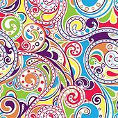 Retro Funky Scroll Pattern 4