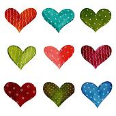 Hearts - decorative elements