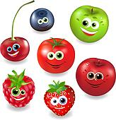 Collection Cartoon Fruit And Berries