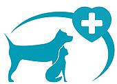 veterinary symbol with dog, cat
