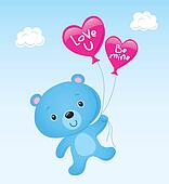 Blue Valentine's Day Bear