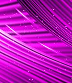 stars are falling on the background of purple rays.