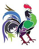 Artistic colors cock