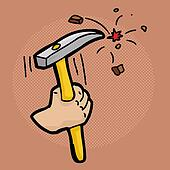 chisel and hammer coloring pages - photo#23