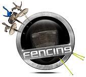 Fencing Sport - Metal Symbol