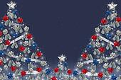 military dog tags on Christmas tree