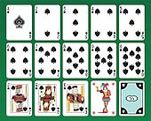 Playing cards of Clubs