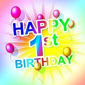 Happy Birthday Represents Congratulation Congratulations And One