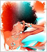 Modern digital art, Afro Queen