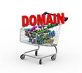 3d domain name shopping cart trolley