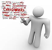 Censored - Man Edits Text Censoring Freedom of Speech