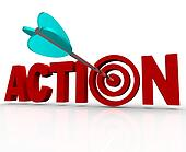 Action Target Bulls-Eye Word Urgent Need to Act Now