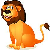 Lion cartoon sitting