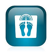 weight blue glossy internet icon