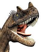 Ceratosaurus Dinosaur Closeup