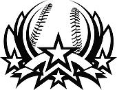 Baseball Vector Graphic Template