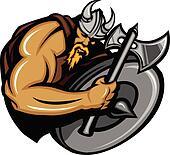 Viking Norseman Mascot Cartoon