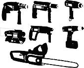 electric tools 2 - vector
