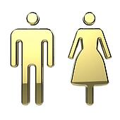 Men and Woman Toilet Sign