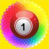 Bingo ball on Kaleidoscope flower