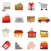 Shopping related icon set