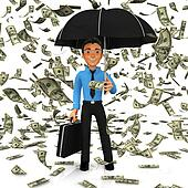 3D Dollar rain