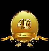 40th anniversary birthday seal