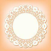 Lace Doily Place Mat, Vintage Style