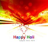 Indian festival Happy Holi splash colorful celebrations background vector