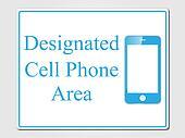 Designated cell phone area