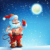 Costume BDSM. Gag Santa Claus.