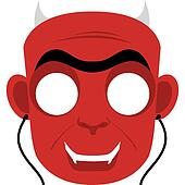 Halloween Mask Clip Art - Royalty Free - GoGraph