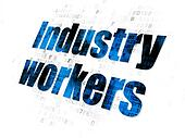 Industry concept: Industry Workers on Digital background