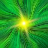 Green Vortex with a Starburst