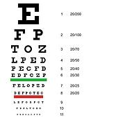 Eye  test chart  use by doctors. Vector illustration.