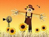 Scarecrow in autumn