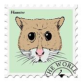 stamp with hamster