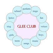 Glee Club Circular Word Concept