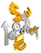economy cogs currency up and down