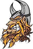 Cartoon Viking Mascot Head