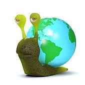 3d Globe snail