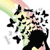 Butterflies from a head2