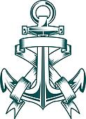 Anchor with ribbons