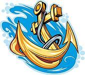 Anchor in sea