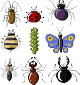 Royalty Free Insects Clip Art - GoGraph