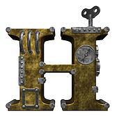 steampunk letter h