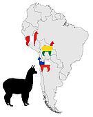 Alpaca range map