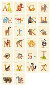 Animal alphabet set