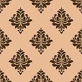 Vintage wallpaper design of floral arabesques